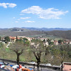 View from the terrace of Palazzo Leopoldo, our hotel @ Radda in Chianti.  Trees not blooming yet.