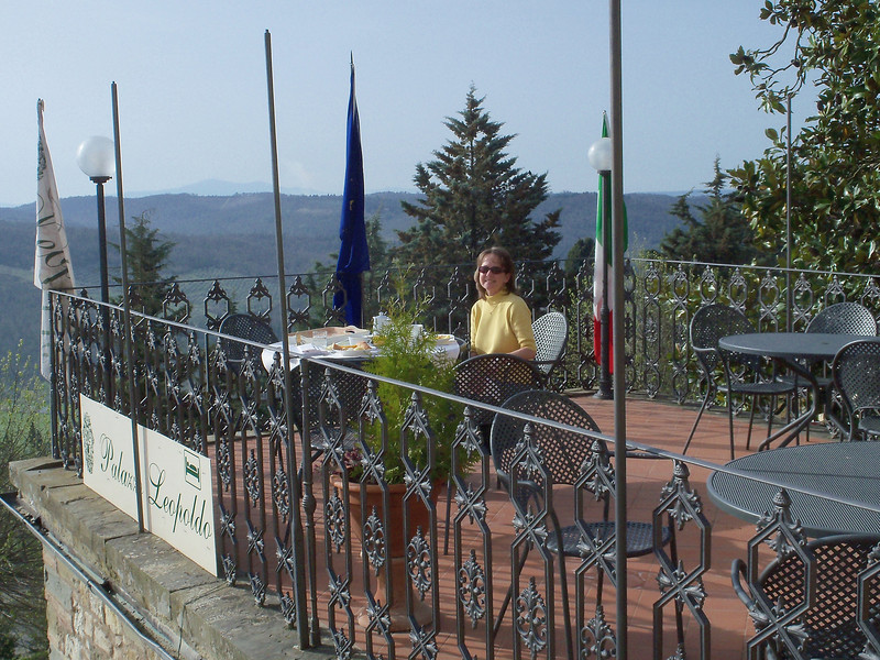 Breakfast on the terrace @ Palazzo Leopoldo, Radda in Chianti.
