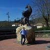 Me and il Gallo Nero, the Black Rooster is the symbol of Chianti Classico.