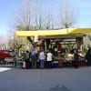 Radda outdoor fruit and veggie market.