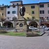 Statue of Giovanni da Verrazzano in Piazza Matteotti, Greve in Chianti.