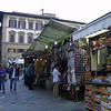 A small market along the way in Firenze.