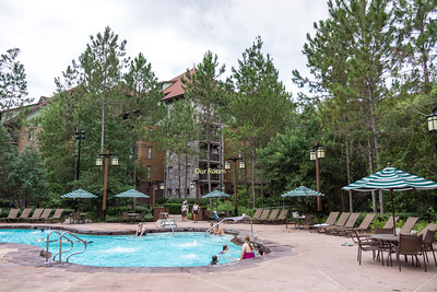 The pool at the Villas at Wilderness Lodge