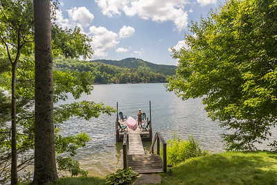 A shot of the dock (w/Eileen) from the house