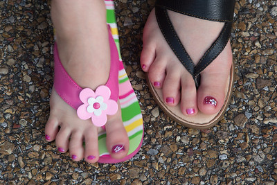 Nana & Kaylee's Toes
