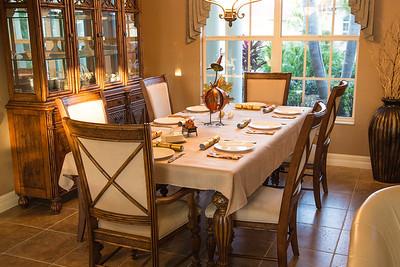 The scene for dinner