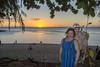 Tourists enjoying the sunset