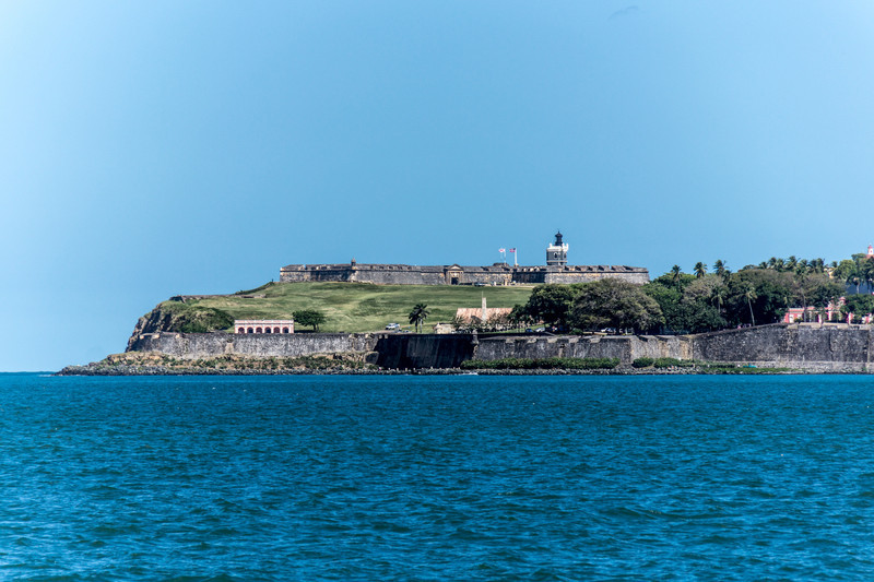 El Morro viewed from the bay
