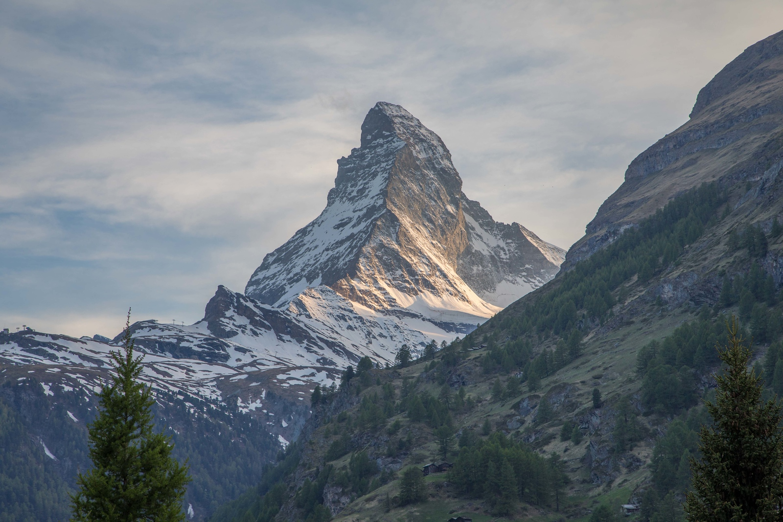 View of The Matterhorn from hotel in Zermatt