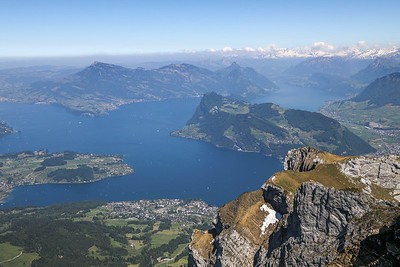 Lake Lucern viewed from Mt. Pilatus