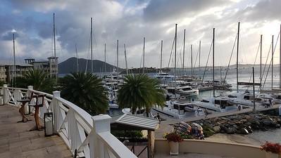 Scrub Island Resort and Spa. Views of the marina.