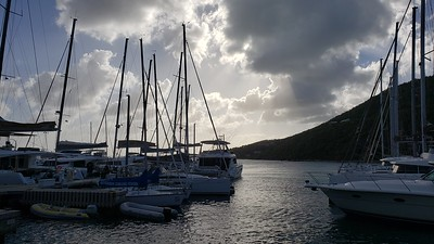 Scrub Island Resort and Spa. Views of the marina.