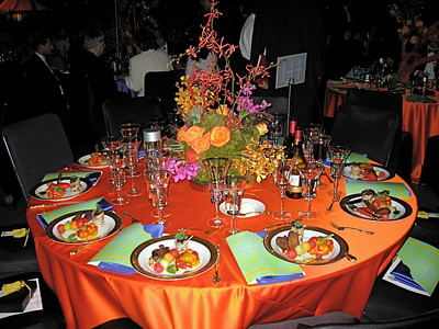 A table at the Governor's Ball set for the first course.