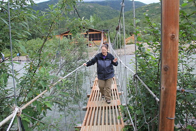 20160710-058 - Denali NP-Kantishna Roadhouse-Lisa on Bridge
