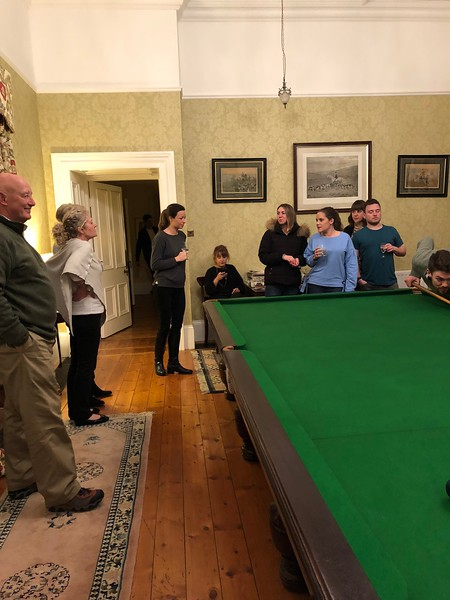 Night before the wedding  (Burnhopeside Hall) - meeting the Groom's parents, groomsmen & friends