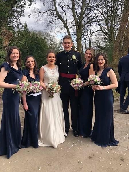Vicki, Charlotte, Alex, Mike, Georgie (maid of honor)  & Annabel
