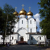 Yaroslavl's new Assumption Cathedral (Успенский собор) was built in honor of its 1,000 year anniversary. The original cathedral was built in the mid-17th century and and was demolished by the Soviets in the 1930s. The new cathedral is 12 meters taller than the original.