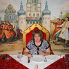 Susan as Tsarina in the Ivan Vasilievich dining room.