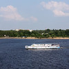 Tourist boat on the Volga.