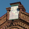 Icon atop a Vyatskoe building that now houses the grocery store.