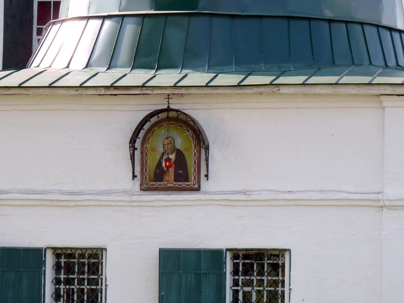 Icon on the exterior of the church of Elijah the Prophet.