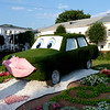 'Grass' car in the center of Yaroslavl.