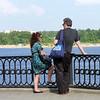 Rustem & Alyssa chatting by the Volga.