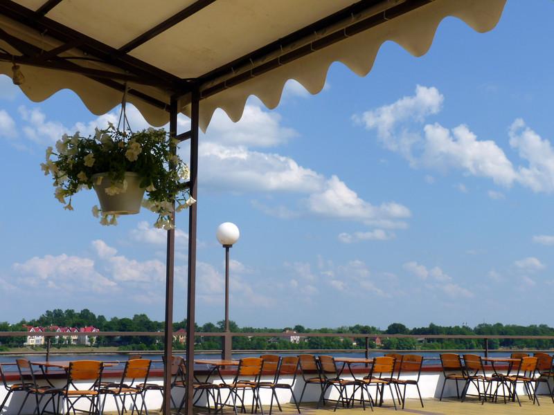 View of the Volga from the Vanilla Sky Restaurant.