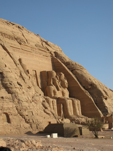 First look at the Great Temple Of Ramses II at Abu Simbel, a site 3 hours south of Aswan. This site was originally lower down on the banks of the Nile, but relocated in the 1960's before the High Dam at Aswan was completed, which would have put it under water.