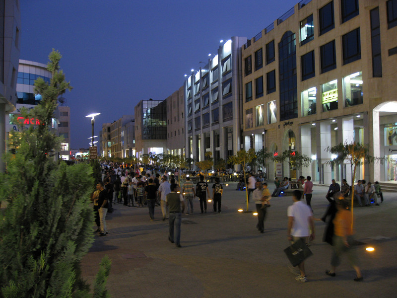 A look at one of the outdoor malls they had in Amman