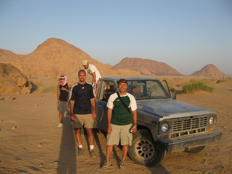 We teamed up with a guy from Dagistan and one from Egypt to take a jeep ride out in the desert.