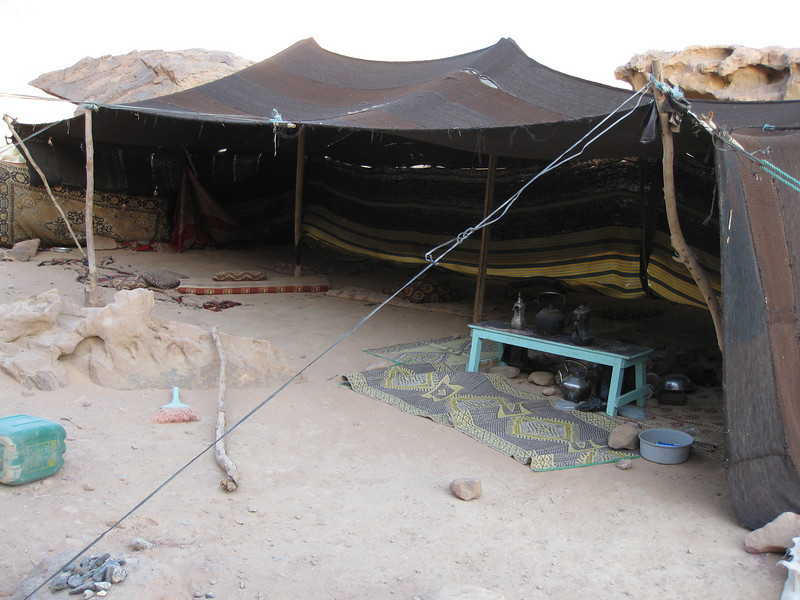 One of the Bedouin camps close by. Very basic...