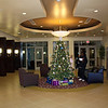 Lobby of the Holiday Inn at the Phoenix airport.