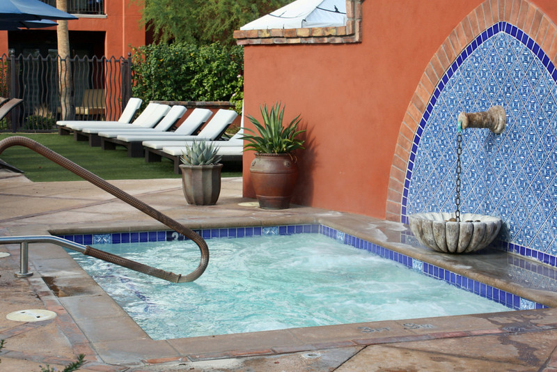 The Jacuzzi at the adults only pool at the Montelucia.