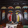 Native American symbols depicted on the walls of El Tovar's dining room.