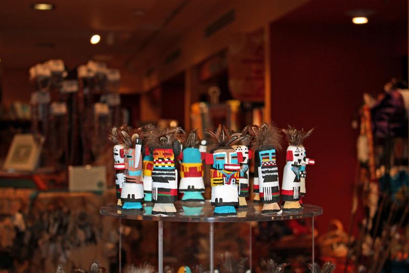 Kachinas for sale at the Heard Museum. (Phoenix, AZ)
