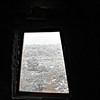 Snowy view from a Watchtower window. (Grand Canyon)