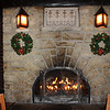 Two beautiful, huge fireplaces grace both ends of El Tovar's dining room.