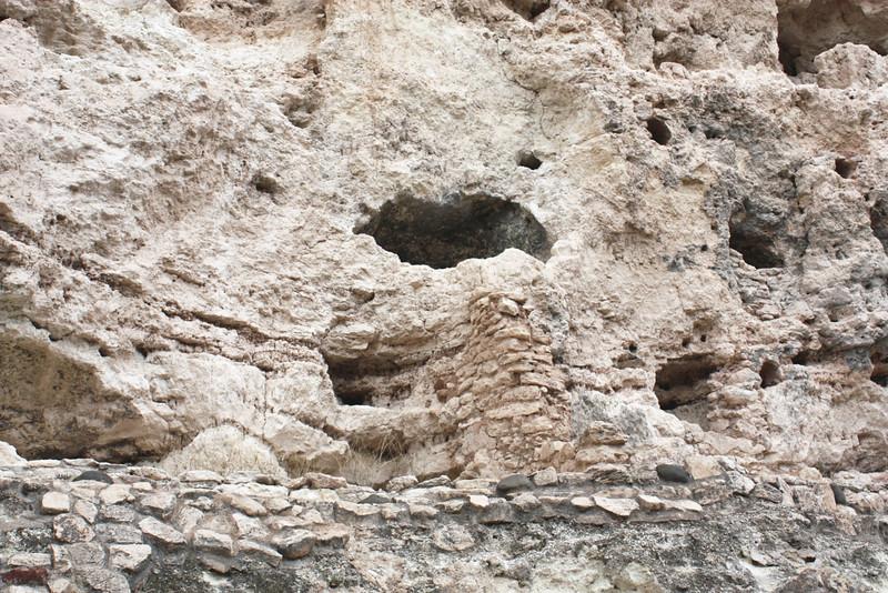 Sinagua caves in the cliffs. (Montezuma's Castle)