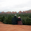 Gazing at the view of Sedona's red rocks from atop Submarine Rock.