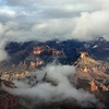 The heavy clouds make for high drama over Grand Canyon.