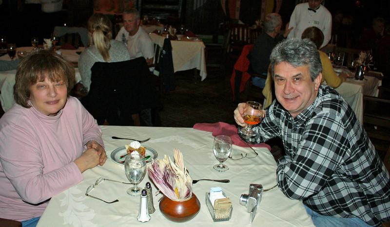 After dinner dessert (sugar-free) & cognac at El Tovar.
