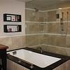 Soaking tub in our bathroom at the Montelucia - like a mini swimming pool.