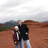"""Сюзан и Рустем возле камня """"Подлодка""""."""