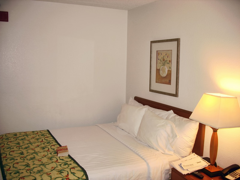 Simple, but with a dependably comfortable Marriott mattress.