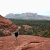 Standing on the edge of Chicken Point. (Sedona, AZ)