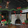 The lobby of the El Tovar decked out for Christmas. The deer & elk mounted on the walls are from years gone by when hunting at the canyon was allowed. Some of these were shot by President Teddy Roosevelt who made Grand Canyon a national park.