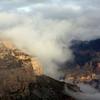 Sun hitting the rocks at Grand Canyon.