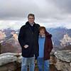 Susan & Rustem atop Look Out Point. (Grand Canyon)