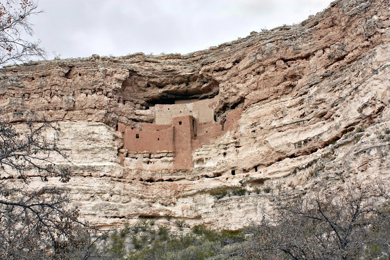 Montezuma's Castle - 1,000 year old cliff dwellings of the Sinagua Indians.